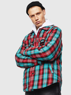 S-JOHNS, Verde/Rojo - Camisas