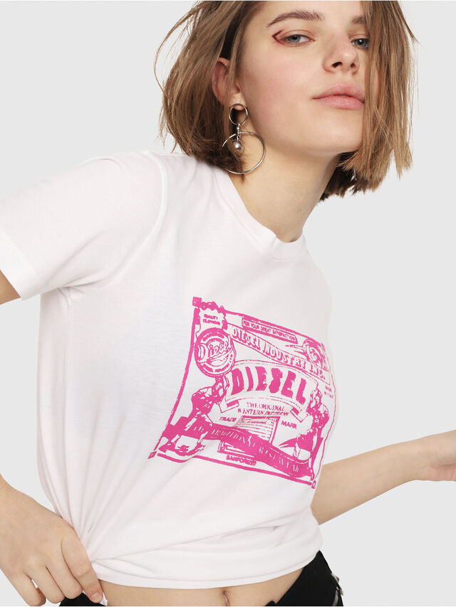 7cf13be83a T-SILY-C3 Mujer  Camiseta entallada con estampado rosa