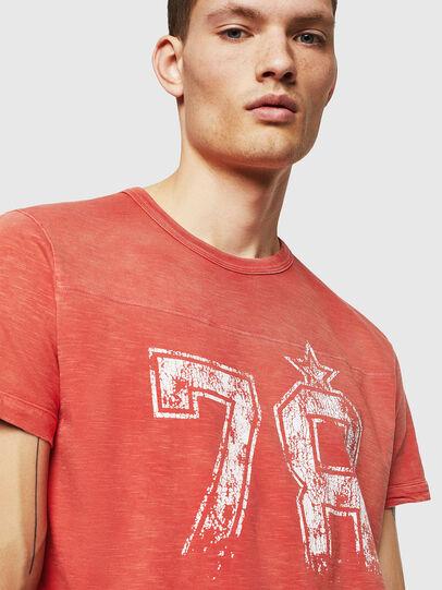 Diesel - T-DIEGO-CUT-AB, Rojo Fuego - Camisetas - Image 4