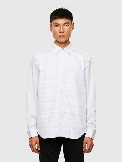 Diesel - S-WEIR, Blanco - Camisas - Image 1