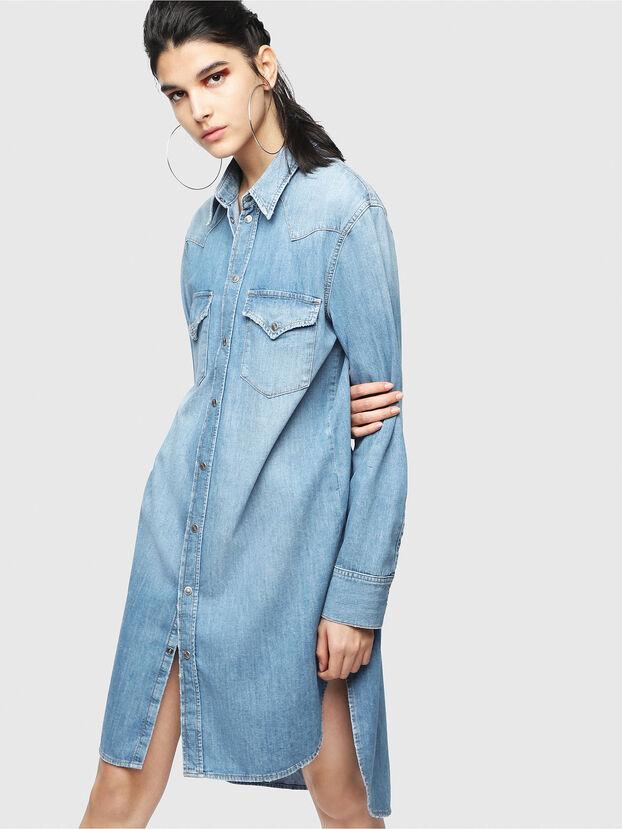 DE-BLANCHE, Azul Claro - Vestidos
