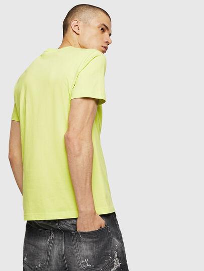 Diesel - T-DIEGO-B6, Amarillo Fluo - Camisetas - Image 2