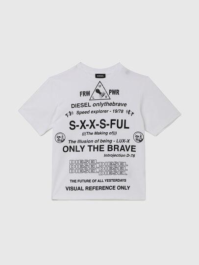 Diesel - TBALLX2 OVER, Blanco - Camisetas y Tops - Image 1