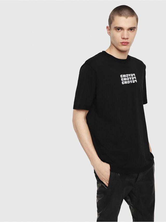 Diesel - T-JUST-Y9, Negro - Camisetas - Image 1
