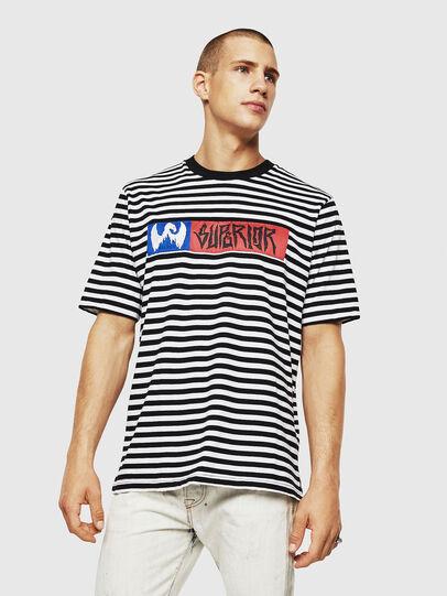 Diesel - T-VIKTOR, Negro/Blanco - Camisetas - Image 1