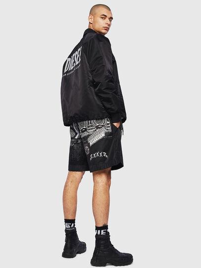 Diesel - P-KUMI-PRINT-A, Negro - Shorts - Image 5