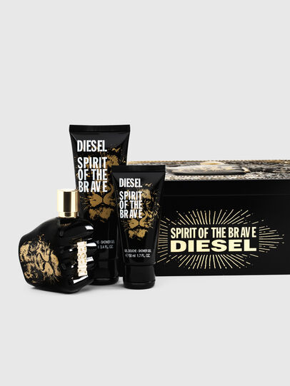 Diesel - SPIRIT OF THE BRAVE 75ML METAL GIFT SET, Negro - Only The Brave - Image 1