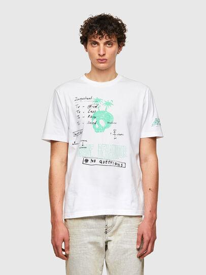 Diesel - T-JUST-B61, Blanco - Camisetas - Image 1