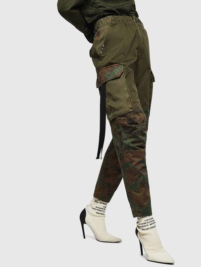 Diesel - P-THENA-A, Verde Camuflaje - Pantalones - Image 5