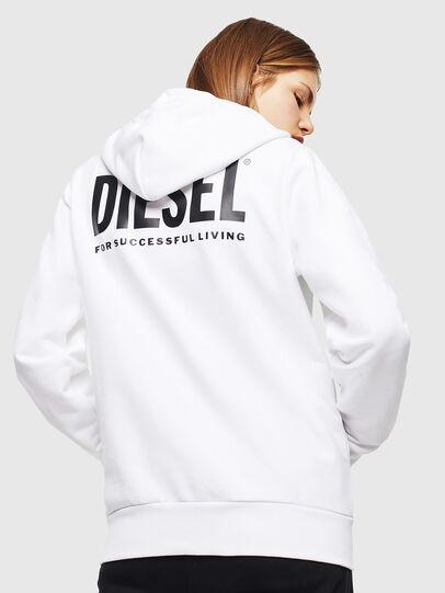 Diesel - S-GIRK-HOOD-ZIP-LOGO, Blanco - Sudaderas - Image 4