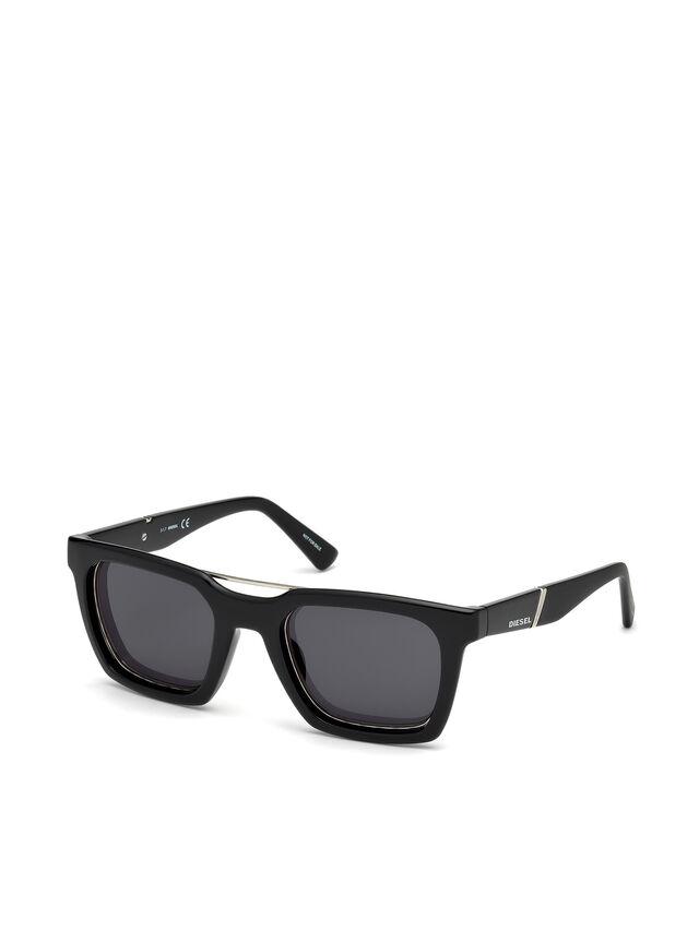 Diesel - DL0250, Negro Brillante - Gafas de sol - Image 4