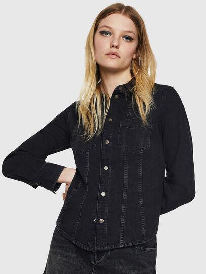 Diesel - DE-FLYP, Negro/Gris oscuro - Camisas de Denim - Image 1