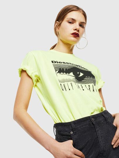Diesel - T-DIEGO-J4, Amarillo Fluo - Camisetas - Image 6
