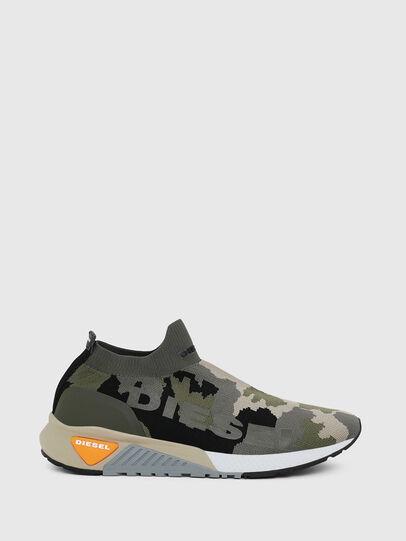 Diesel - S-KB ATHL SOCK II, Verde Camuflaje - Sneakers - Image 1