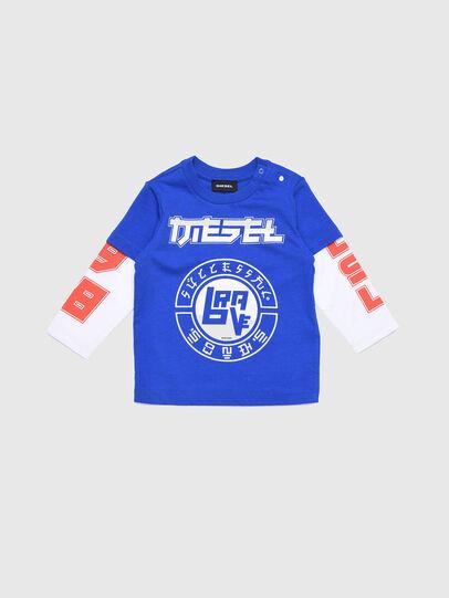 Diesel - TUCOB, Azul/Blanco - Camisetas y Tops - Image 1