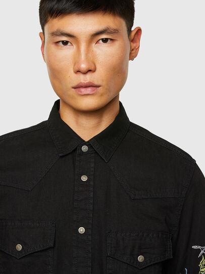 Diesel - D-EAST-P1-SP, Negro - Camisas de Denim - Image 3