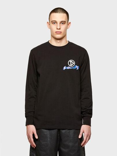 Diesel - T-JUST-LS-E1, Negro - Camisetas - Image 1