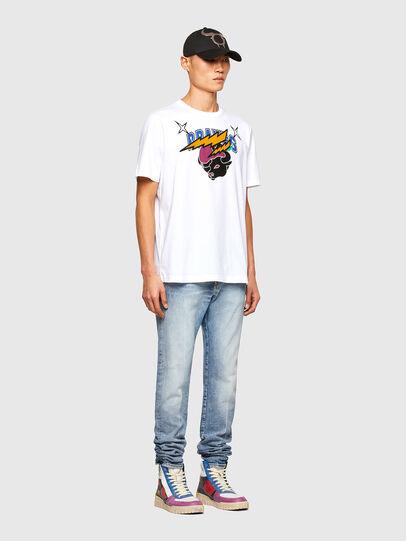 Diesel - CL-T-JUST-O1, Blanco - Camisetas - Image 7