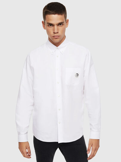 Diesel - S-JAMES, Blanco - Camisas - Image 1