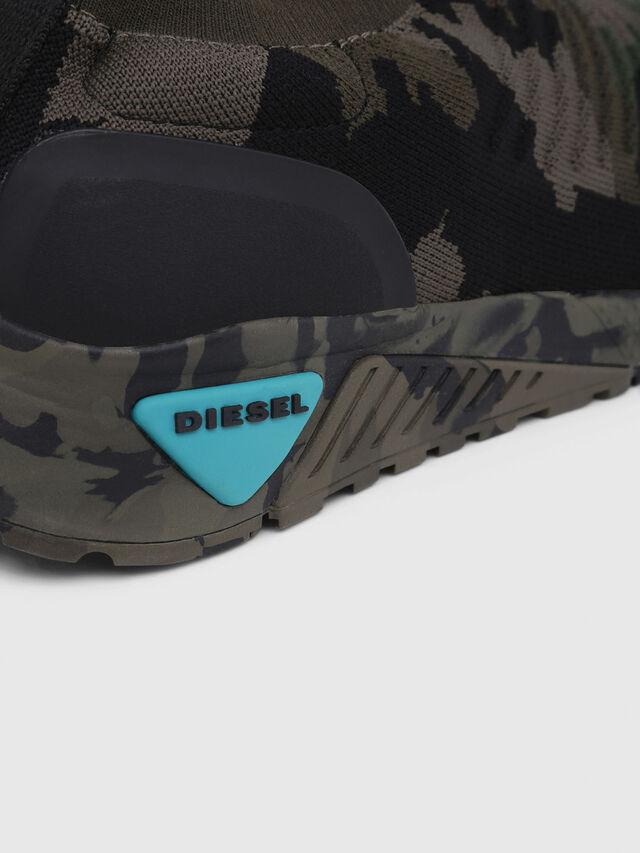 Diesel - S-KB ATHL SOCK, Verde Camuflaje - Sneakers - Image 5
