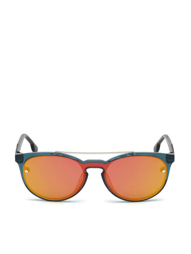 Diesel - DL0216, Azul/Naranja - Gafas de sol - Image 1