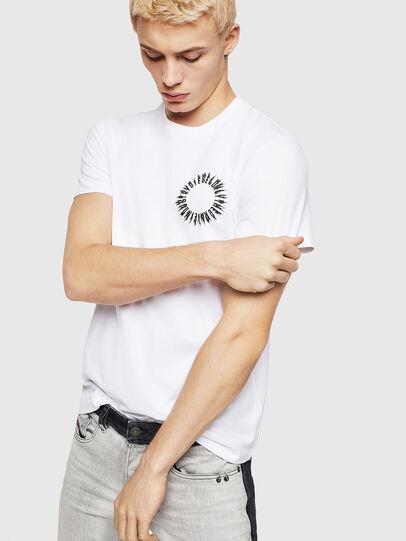 Diesel - T-DIEGO-A12, Blanco - Camisetas - Image 1