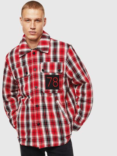 Diesel - S-JOHNS, Rojo/Negro - Camisas - Image 1