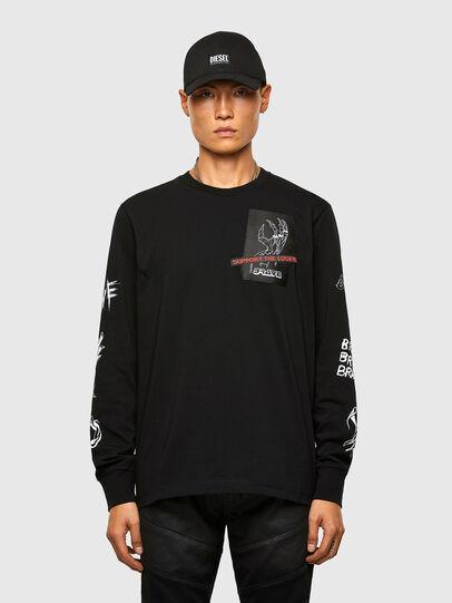 Diesel - T-JUST-LS-A9, Negro - Camisetas - Image 1