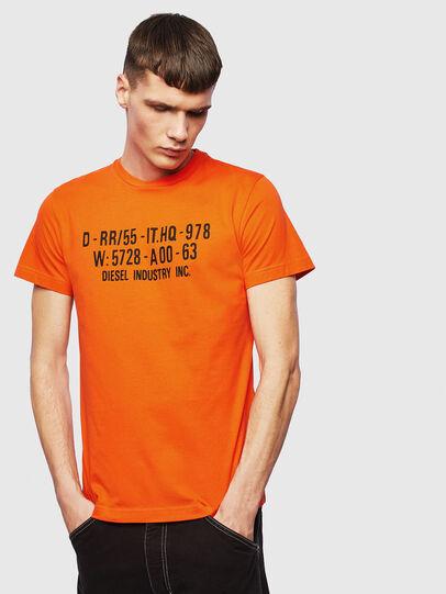 Diesel - T-DIEGO-S2, Naranja - Camisetas - Image 1