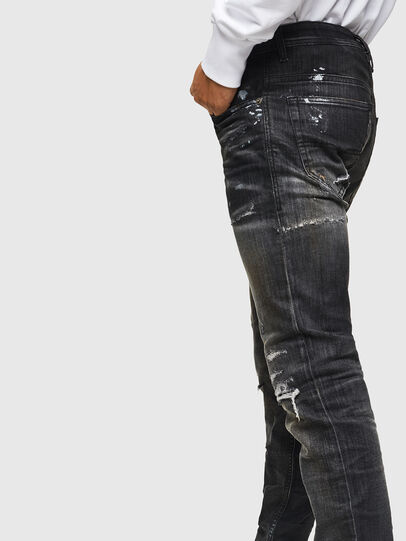 Diesel - Thommer JoggJeans 0098E, Negro/Gris oscuro - Vaqueros - Image 4
