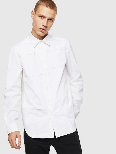 Diesel - S-AUDREY, Blanco - Camisas - Image 1