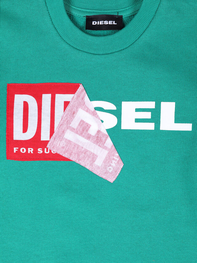 Diesel - SALLIB-R, Verde Agua - Sudaderas - Image 3