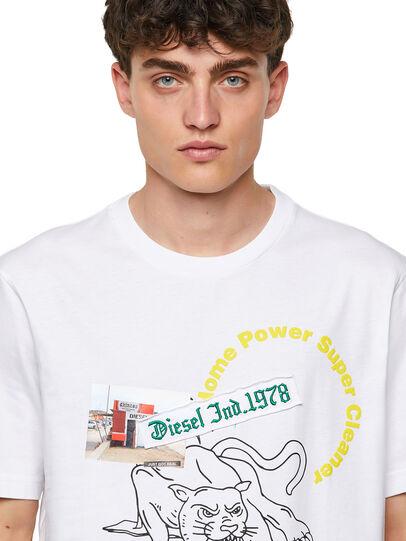 Diesel - T-JUST-B60, Blanco - Camisetas - Image 3