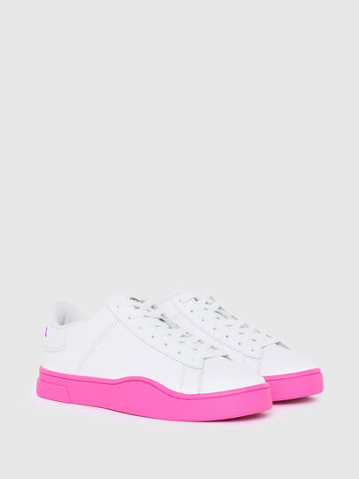 Diesel - S-CLEVER LOW LACE W, Blanco/Rosa - Sneakers - Image 2