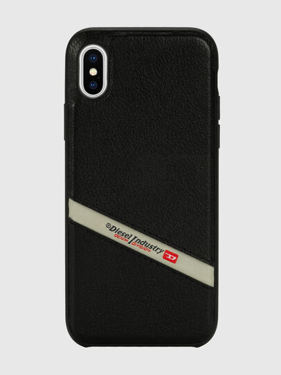 Diesel - DIESEL LEATHER CO-MOLD CASE FOR IPHONE XS MAX, Negro - Fundas - Image 2