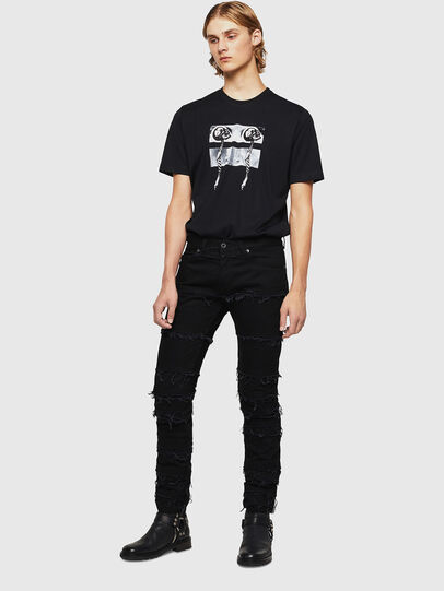 Diesel - TY-X1, Negro - Camisetas - Image 5