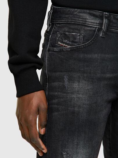 Diesel - THOSHORT, Negro/Gris oscuro - Shorts - Image 4