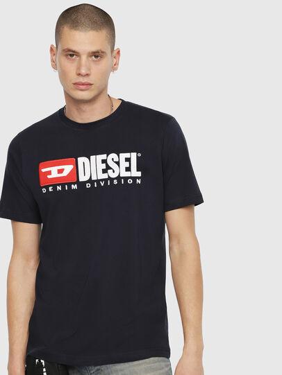 Diesel - T-JUST-DIVISION, Azul Oscuro - Camisetas - Image 1