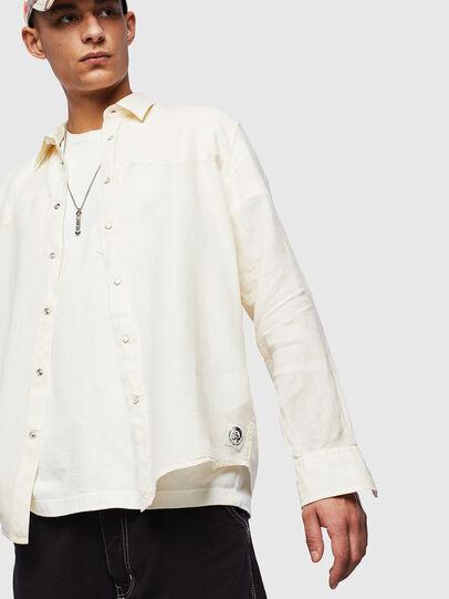 Diesel - S-PLAN-B, Blanco - Camisas - Image 4