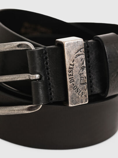 Diesel - B-FRAG, Piel Negra - Cinturones - Image 2