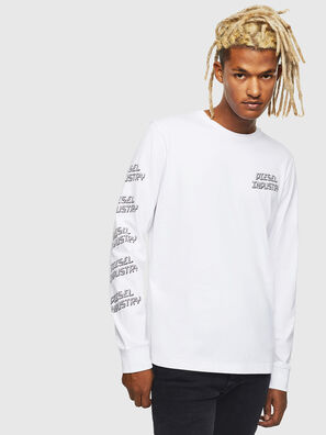 T-DIEGO-LS-J1, Blanco - Camisetas