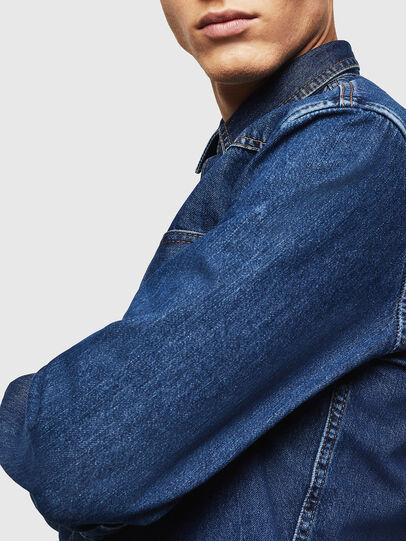 Diesel - D-EAST-P, Azul medio - Camisas de Denim - Image 5