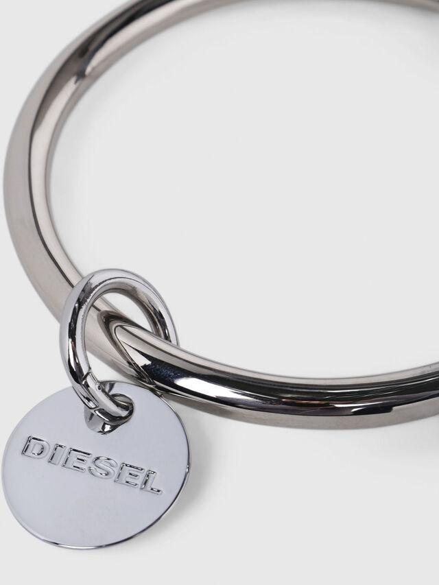 Diesel - CL-METAL BANGLE, Plata - Joyas y Accesorios - Image 3