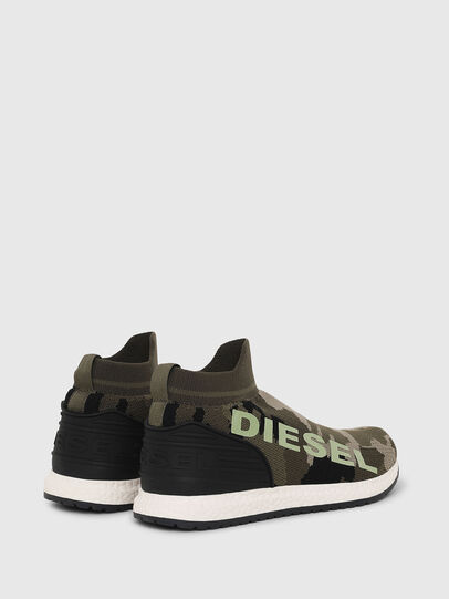 Diesel - SLIP ON 03 LOW SOCK, Verde Camuflaje - Calzado - Image 3