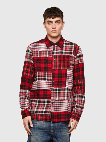 Diesel - S-MORRIS, Rojo/Blanco - Camisas - Image 1