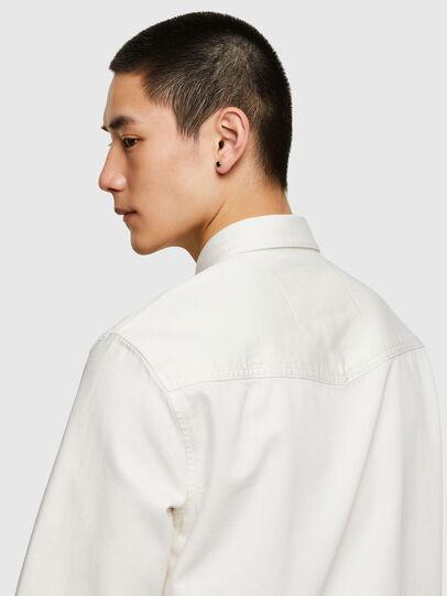 Diesel - D-EAST-P1, Blanco - Camisas de Denim - Image 3