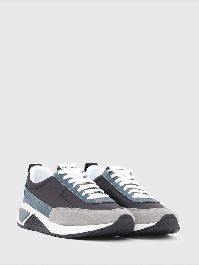 Diesel - S-KB LOW LACE, Gris/Azul - Sneakers - Image 2