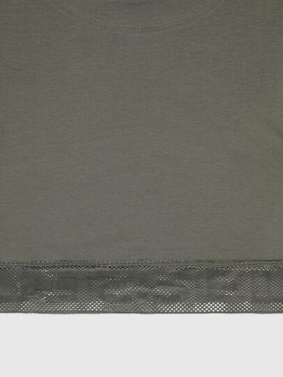 Diesel - UFTEE-GIORGMESH-SV, Verde Militar - Camisetas - Image 4