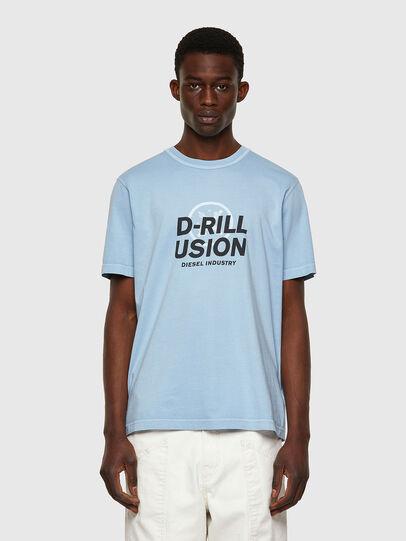 Diesel - T-JUBINDY, Azul Claro - Camisetas - Image 1