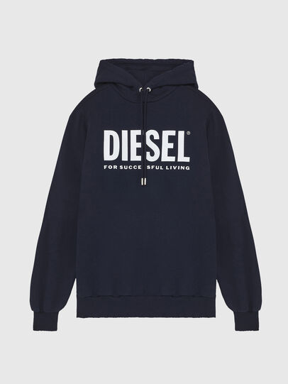 Diesel - S-GIR-HOOD-DIVISION-, Azul Oscuro - Sudaderas - Image 1